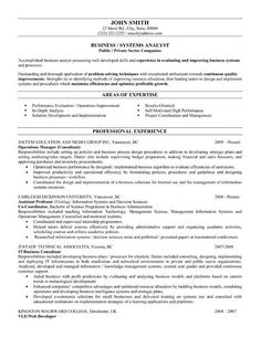 12 Best Business Analyst Resume Sample | Misc | Pinterest ...