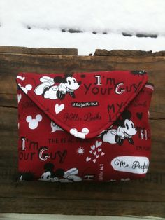 red black Mickey Mouse makeup accessory bag clutch by SelahsShop, $8.00