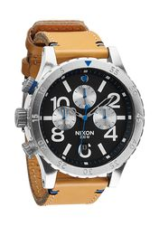 The 48-20 Chrono Leather - Natural / Black | Nixon