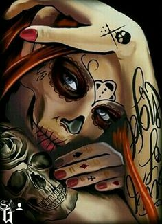 Top Best Sugar Skull Makeup Wallpaper For Mobile Phone La Muerte Tattoo, Catrina Tattoo, Day Of The Dead Artwork, Day Of The Dead Skull, Skull Girl Tattoo, Sugar Skull Tattoos, Cholo Art, Chicano Art, Los Muertos Tattoo