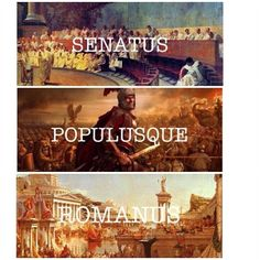 "SPQR: Senātus Populusque Rōmānus. In Latin, Senātus is a nominative singular noun meaning ""Senate"". Populusque is compounded from the nominative noun Populus, ""the People"", and -que, an enclitic particle meaning ""and"" which connects the two nominative nouns. The last word, Rōmānus (""Roman"") is an adjective modifying the whole of Senātus Populusque: the ""Roman Senate and People"", taken as a singular whole.Thus, the sentence is translated literally as ""The Roman Senate & People"", or more…"