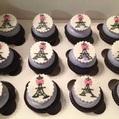 Eiffle tower cupcakes