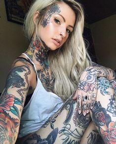 Tattoo Mädchen # 29 tattoo tattoo ideas for women for women ideas girl body girl design girl drawing girl face girl models ideas for moms for women Girl Face Tattoo, Hot Tattoo Girls, Face Tattoos, Hot Tattoos, Body Art Tattoos, Girl Tattoos, Tattoos For Women, Tatoos, Tattoed Women