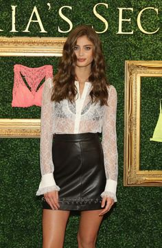 Taylor Hill attends the Victoria's Secret global media live stream to reveal Bralette Collection at Victoria's Secret Herald Square on April 12, 2016 in New York City.