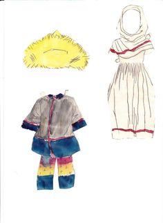 Helga paper doll (made up name) (4 of 4)   Maggans Nostalgiska klippdockor