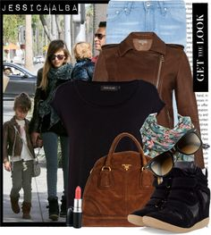 """January Looks - Jessica Alba (Jan. 26) n Beverly Hills, Calif."" by karineminzonwilson ❤ liked on Polyvore"