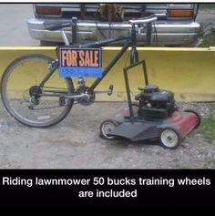 Riding Lawn Mower, $50