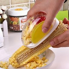ZIQIAO Kitchen Magic Manual ABS + Stainless Steel Corn Stripper 4688616 2016 – $2.54
