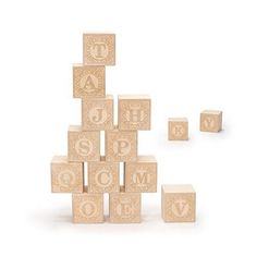 Blank blocks provide a tabula rasa to nurture your creative nature. This set features naked basswood cubes with 2 capital letters embossed on opposing sides. Paint not included. Letters on the opposing sides of each block are as follows: A/E, B/P, C/N, D/Q, E/A, F/H, G/Y, I/J, K/L, M/W, O/X, R/S, T/Z, U/V. | eBay!