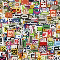 #wallpaper - Magazine Letters - rebelwalls.com