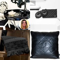 coco chanel inspired room ideas | to R clockwise: InStyle.com, Chanel.com, 1stDibs.com, Chanel.com)