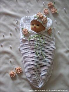 Вяжем «кокон» для новорожденного.. Обсуждение на LiveInternet - Российский Сервис Онлайн-Дневников