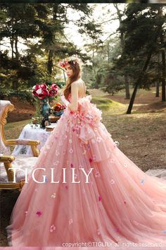 """Tiglily Spring 2016 Wedding Dresses — """"Collection of Pandora"""" Bridal Collection tiglily bridal 2016 strapless straightacross ball gown wedding dress (ann) mv pink color romantic Blush Pink Wedding Dress, 2016 Wedding Dresses, Gown Wedding, Bridesmaid Dresses, Wedding Ceremony, Ball Dresses, Ball Gowns, Quinceanera Dresses, Beautiful Gowns"""