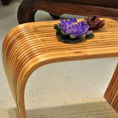 Wohnzimmer Tisch Beistelltisch Massivholz Bambus Holz