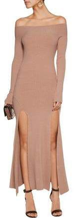 See By Chloé Off-The-Shoulder Stretch-Knit Midi Dress #affiliate