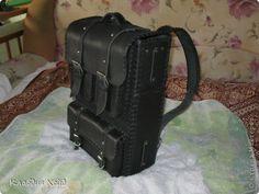 Поделка изделие Вязание Рюкзак из чепрака Кожа фото 2