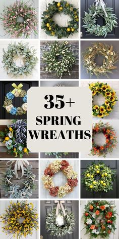Check out these gorgeous Etsy spring wreaths for the front door and summer wreaths for the front door #summerwreathsforthefrontdoor #springwreathsforthefrontdoor Spring Wreaths, Summer Wreath, Christmas Wreaths, Home Decor Inspiration, Decor Ideas, Craft Ideas, Seasonal Decor, Holiday Decor, Makeover Before And After
