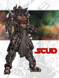 Star Wars Bounty Hunter SCUDbyshumworld  This is scud a gen dai bounty hunter done by shumworld on deviant art, the characters design was inspired by durge from the original clone wars cartoon. Also this not my character.