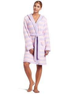 Casual Moments Womens Marshmallow Hooded Wrap Robe $49.99