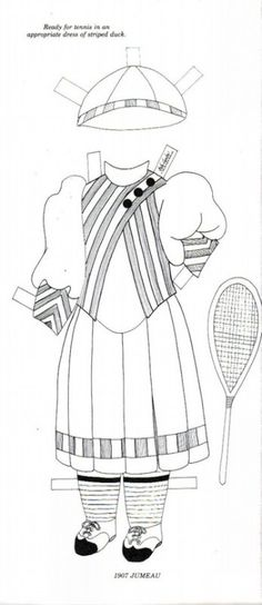 1907 JUMEAU To Color and Cut Out and Dress the Doll