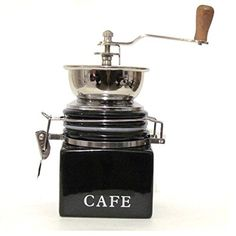 """Buy CoffeeWerks """"Vintage Cafe"""" Manual Ceramic Burr Coffee Grinder (Black) - Topvintagestyle.com ✓ FREE DELIVERY possible on eligible purchases"""