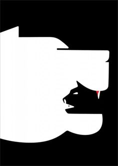 Clever use of negative space by Noma Bar
