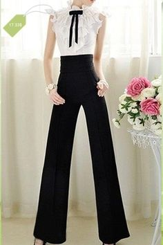 Fashionable Style Solid Color High Waist Slimming Pants For Women