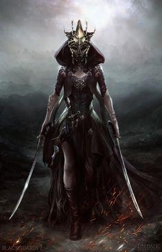 Cassia - Blackguards 2 by Max Schulz on ArtStation Fantasy Warrior, Warrior Queen, Fantasy Rpg, Dark Fantasy Art, Fantasy Artwork, Dark Warrior, 3d Artwork, Character Concept, Character Art