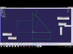 CATIA V5: The Basics - Tutorial 2: The Sketch Workbench - YouTube.  (This will show you how to create a sketch)