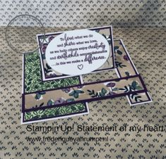 Stampin'Up! Statement of my heart