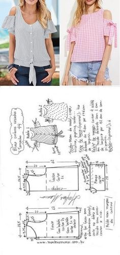 24 ideas for sewing patterns free tops blouses patron de couture Dress Sewing Patterns, Blouse Patterns, Sewing Patterns Free, Sewing Tutorials, Clothing Patterns, Skirt Patterns, Dress Tutorials, Coat Patterns, Free Sewing