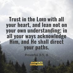 Proverbs 3 5 6, Book Of Proverbs, Great Quotes, Inspirational Quotes, Bible Verses Quotes, Bible Scriptures, Scripture Pictures, Fear Of The Lord, Gods Promises