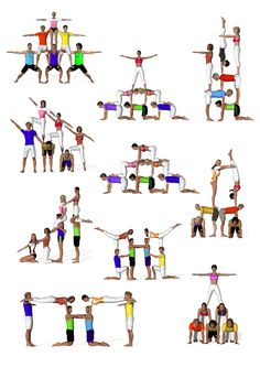 Yoga for Weight Loss: What you need know to succeed sextetos de acrosport Acro Yoga Poses, Partner Yoga Poses, Dance Poses, Group Yoga Poses, Acro Danza, Chico Yoga, Cheer Stunts, Cheerleading Stunting, School Cheerleading