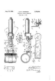 Patent US1772976 - Electrical ground connection - Aug 12, 1930