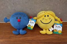 Mr Worry and Little Miss Sunshine Plush Toy 12inch tall