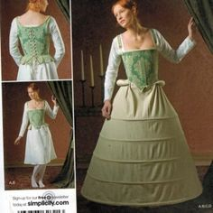 Authentic undergarments for historical costumes