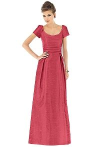Alfred Sung Style D527    #red #bridesmaid #dress