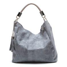Kožená kabelka Foto, sivá