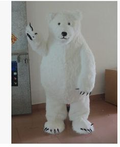 High quality Polar Bear Mascot Costume Halloween Party Dress Free Shipping  #Dress