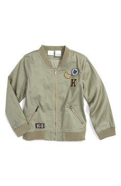 Kardashian Kids Cotton Bomber Jacket (Toddler Boys & Little Boys)