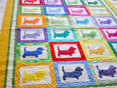 Carolyn's Basset Hound Quilt - Quilted Thimble Cottage