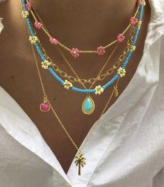 Hippie Jewelry, Cute Jewelry, Bridal Jewelry, Diy Jewelry, Beaded Jewelry, Jewelery, Jewelry Accessories, Beaded Necklace, Fashion Jewelry