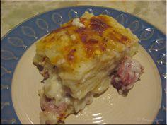 Mom's Cafe Home Cooking: Baked Peameal Bacon & Peameal Bacon Casserole Scalloped Potatoes Easy, Bacon Recipes For Dinner, Pork Recipes, Diabetic Recipes, Yummy Recipes, Recipies, Dinners To Make, Easy Meals, Rezepte