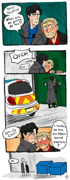 johnlock/it crowd crossover. possibly the closest thing to perfection the fanart world will ever see.