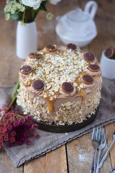 Karamell Nougat Haselnuss Toffifee Torte - Caramel Hazelnut Chocolate Cake   Das Knusperstübchen