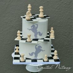In this tutorial, I will show you how I made this lovely and unique chess cake. This is a 2 tier cake with deconstructed chess boards and pie…