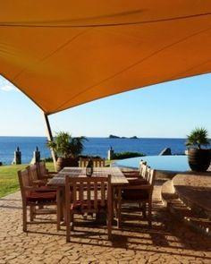 Baraka Point ( Virgin Gorda, British Virgin Islands )Lunch on the coral stone terrace? The sea deck? The beach? It's your choice. #Jetsetter #JSBeachDining