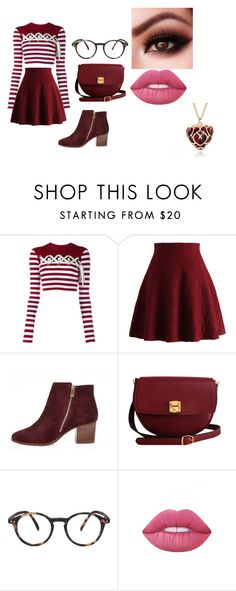 """clumsy book 3"" by bellapaige-clxxi on Polyvore featuring House of Holland, Chicwish, River Island, The Code, See Concept and Lime Crime"