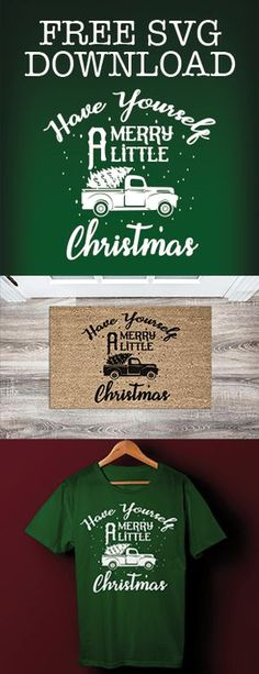 Get your free Have Yourself a Merry Little Christmas SVG file for your Christmas crafting files. Create festive gifts for your friends and family. Cricut Christmas Ideas, Christmas Svg, Christmas Projects, Christmas Decals, Christmas Decorations, Christmas Print, Cricut Vinyl, Svg Files For Cricut, Cricut Fonts