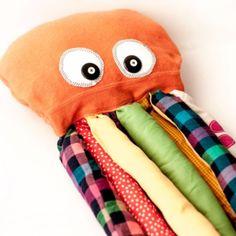 Você pode fazer um polvo de tecido para crianças para decorar o quarto de seus filhos ou para eles brincarem muito. E aproveite os ...